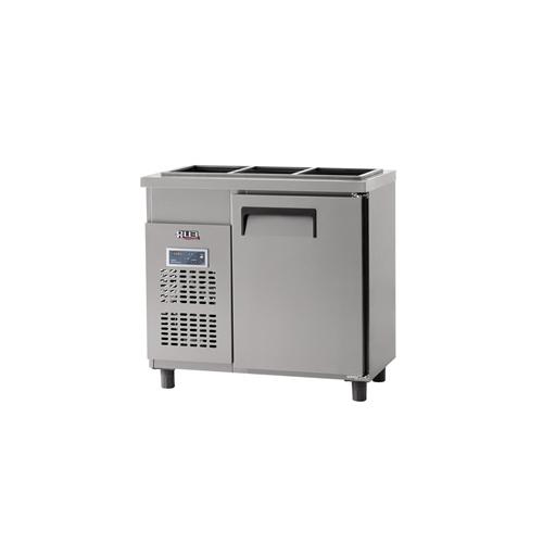 받드 냉장고 900 x 500 디지털 냉장 129L 내부 스텐