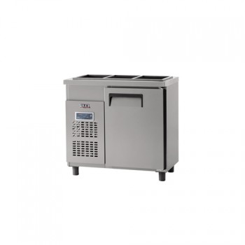 받드 냉장고 900 x 500 디지털 냉장 129L 올 스텐