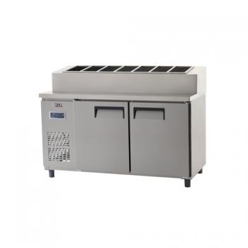 토핑 테이블 냉장고 1500 디지털 냉장 495L 내부 스텐