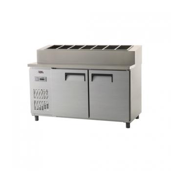 토핑 테이블 냉장고 1500 아날로그 냉장 495L 내부 스텐