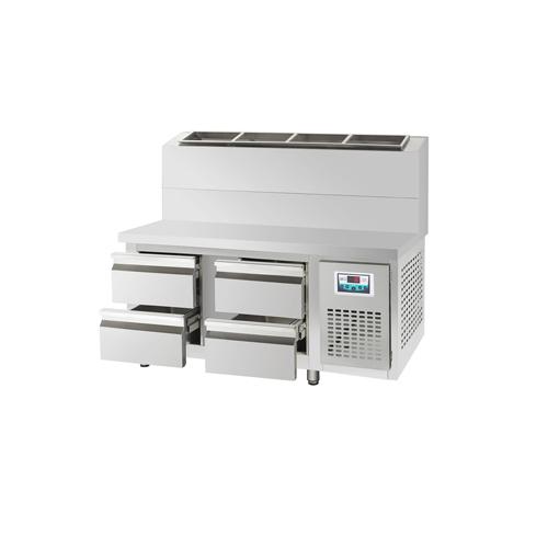 콜드 서랍식 토핑 테이블 냉장고 1200 간냉식