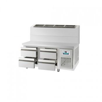 콜드 서랍식 토핑 테이블 냉장고 2100 직냉식