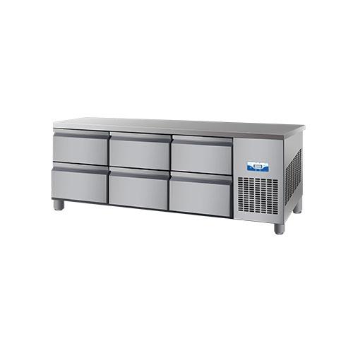 콜드 낮은 서랍식 테이블 냉장고 직냉식 2100