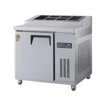 고급형 토핑테이블 900 직접 냉각 냉장 255L 올 스텐