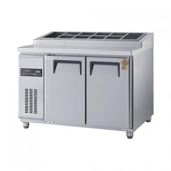 고급형 토핑테이블 1200 직접 냉각 냉장 356L 올 스텐