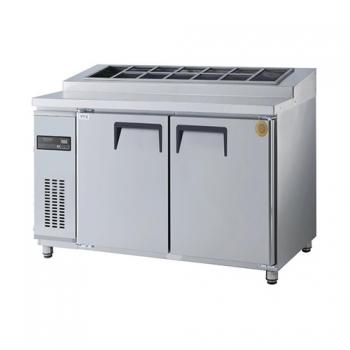 고급형 토핑테이블 1500 직접 냉각 냉장 486L 올 스텐