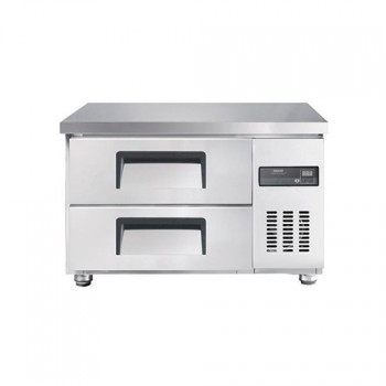 고급형 낮은 서랍식 보냉테이블 900 직접 냉각 냉장 130L 올 스텐