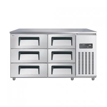 고급형 높은 서랍식 보냉테이블 1500 직접 냉각 냉장 375L 올 스텐