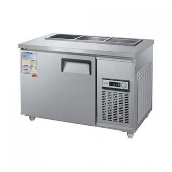 찬밧드 테이블 냉장고 1200 아날로그 직접 냉각 냉장 190L 메탈