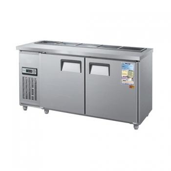 찬밧드 테이블 냉장고 1800 아날로그 직접 냉각 냉장 360L 올 스텐