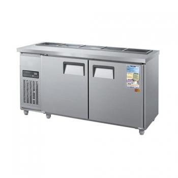 찬밧드 테이블 냉장고 1800 디지털 직접 냉각 냉장 360L 메탈