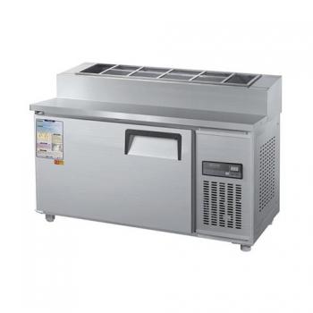 토핑 테이블 냉장고 1200 디지털 직접 냉각 냉장 260L 메탈