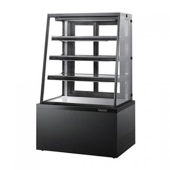 높은 제과 쇼케이스 사선 4단 (블랙) 뒷문형 1500