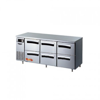 1800 간냉 냉장 테이블 ALL 서랍형 492L