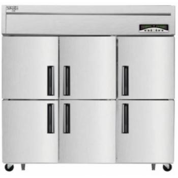 수직형 직냉식 65박스 냉장1120L 냉동523L 내부스텐 외부메탈