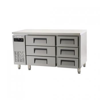 에버젠 간접냉각방식 테이블 1500 높은 서랍식 (3단) 냉장 372L