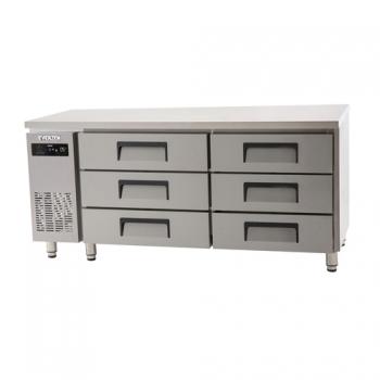 에버젠 간접냉각방식 테이블 1800 높은 서랍식 (3단) 냉장 469L