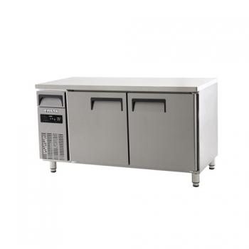 에버젠 직접냉각방식 냉동 테이블 1500 디지털 냉동 394L 2도어